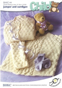 UKHKA Baby Sweater & Cardigan Knitting Pattern No 44 - each