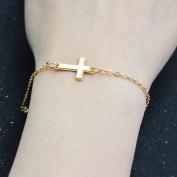 Cross Bracelet Cute Sideway Cross Bracelet God Blessing Bracelet