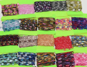 300 yrds 20 colours Ladder Trellis Yarn for 20 necklaces mix lot