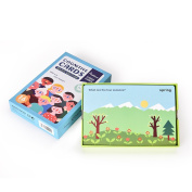 Children Enlightenment Cognitive Cards - Daily Knowledge Colour Weather Shape Cognition Card Games Basic Edition