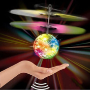 Xinzistar Colourful Magic LED Flash Disco Flying Ball Drone Helicopter Ball Built-in LED Lighting for Kids