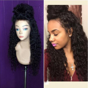 Curly Human Hair Lace Front Wig with Baby Hair Brazilian Virgin Glueless Lace Front Curly Human Hair Wigs Natural Colour