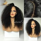 Glueless Lace Front Wig Afro Kinky Curly Natural 180% Density Pre Plucked Full Lace Wigs 100%Human Hair Wigs For Black Women