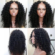 Middle Part Afro Kinky Curly U Part Wig Virgin Brazilian U Part Curly Human Hair Wigs For Black Women