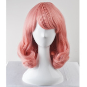 Women's Curly Wave Wigs for Women Girls Heat Resistant Synthetic Full Wig Cosplay Party Wigs