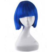 Women Girls Short BoBo Hair Heat Resistant Synthetic Full Wig Cosplay Party Wigs