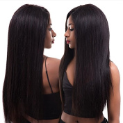 Eayon Hair 180% Density 6A Virgin Hair Glueless Human Hair Full Lace Wigs Brazilian Silky Straight Hair Lace Wig with Baby Hair for Women Natural Colour 41cm