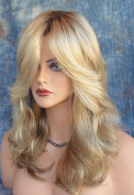 Halloween Wigs Costume Cosplay Wig Women Long Curly Wig Synthetic Hair Gold with Wig Cap Z077