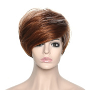 Women Wigs Short Synthetic Wig Curly Hair Halloween Costume Wigs with Wig Cap Z074