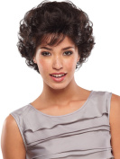 Women Short Curly Synthetic Hair Brown Wig Halloween Costume Wigs with Wig Cap Z075