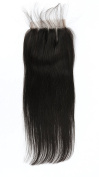 Fennell 3 Part Closure Silky Straight Virgin Brazilian Hair 130% Density Lace Closure Natural Hair Colour Bleached Knots