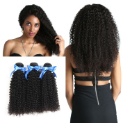 VIVI BABI 8A Brazilian Kinky Curly Hair Brazilian Curly Hair 3 Bundles Virgin Kinky Curly Hair for Black Women Natural Colour