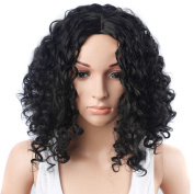 TKEKON Full Afro Kinky Curly Wigs Shoulder Length Wigs with Natural Curls for Black Women Come with Wig Cap