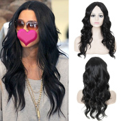 TKEKON 21'' Long Natural Wavy Style Wigs for Black Women Come with Wig Cap