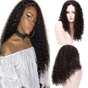 Long Curly Hair Wig 60cm Kinky Curly Black Synthetic Heat Resistant Full Wigs for African American Women Cosplay Wigs