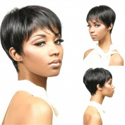 Lady Synthetic Cosplay Wig Thick Short Black Hair Girls/Women Party Wig