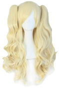 Tsnomore Long Curly Lolita Cosplay Wig + 2 clip on Ponytail-- Golden blonde