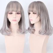 Bob wig female short hair Qi Liu short straight hair fluffy female Korean wave - bob bob straight hair short hair female Korean wig head Liu