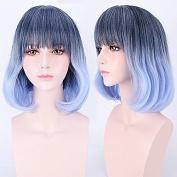 Gradient colour streaked wig hair long micro curls pear long hair - hair colour gradient pear hair hair colour hair highlights hair Harajuku