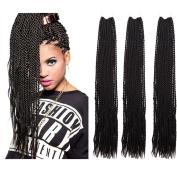 TopWigy 5Pcs Crochet Twist Hair Synthetic Hair Crochet Braids Havana Mambo Twist Style Braid Hair Extensions 1B 60cm