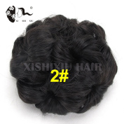 Synthetic Curly Chignon Bun Hairpiece For Women 9 Flowers Roller Clip in Fake Hair Accessories High Temperature Fibre
