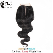 Brazilian Body Wave Lace Closure Middle Part 4X4 Natural Colour Non-remy Hair Closure 100% Human Hair