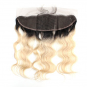 ZigZag Hair Ombre 1B/613 Boby Wave 13x 4 Lace Frontal Closure Pre Plucked Lace Frontal Natural Hairline Ear to Ear Full Lace Frontal Closure with Baby Hair