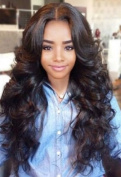 Formal hair 150% Density Body Wave Human Hair Lace Front Wigs Brazilian Loose Wave Wig with Baby Hair for Black Women Natural Colour 50cm