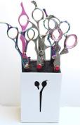 Washi Love Lounge White Pro Beauty Shear / Scissor Holder fits 3-5 Shears PSH X-611