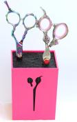 Washi Love Lounge Pink Pro Beauty Shear / Scissor Holder fits 3-5 Shears PSH X-611