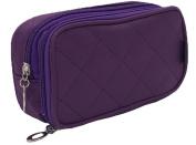 Dreubea Women's Makeup Cases Toiletry Kits Cosmetic Bags Organiser Pouch Dark Purple