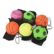 GOGO Pack of 6 Bouncy Wrist Band Ball, Assorted, For Wrist Exercise