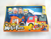City Heroes Metro Force Fire Turck And Helicopter Play Set