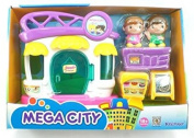 Cafe Local Restraunt Shop Mega City Play Set