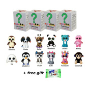 Set of 4 Ty Mini Boos Hand Painted Collectible Figurines Series 1 Blind Box . with purchase)
