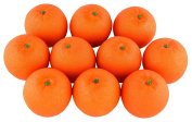 SAMYO 10Pcs Artificial Lifelike Simulation Orange Set Fake Fruit for Home House Kitchen Party Decoration