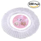 Foxnovo 100 Pack 9x12cm Organza Drawstring Gift Bags, Wedding Favour Bags
