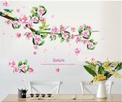 SPHTOEO Chinese wind peach wallpaper,pvc