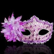 Nanier Mistery Luxury Bling Lace Sexy Charming Lady Mask, Women's Venetian Masquerade Mask Purple