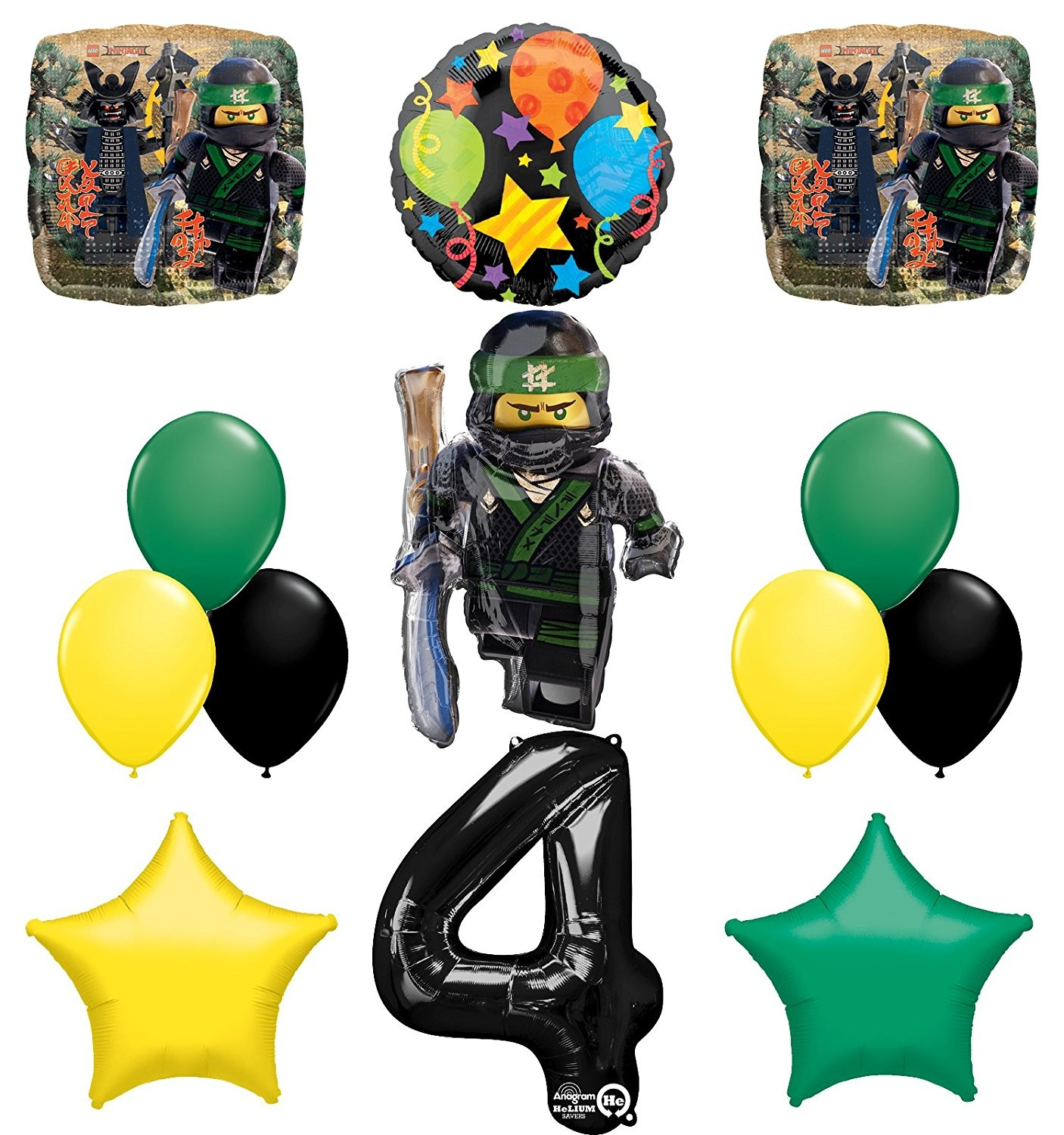 The Ultimate Lego Ninjago Forth 4th Birthday Party Supplies And