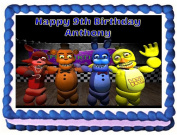 Five Nights at Freddy's Edible Frosting Sheet Cake Topper - 1/4 Sheet