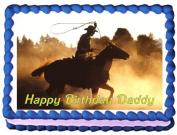 Cowboy Edible Cake Topper - 1/4 Sheet