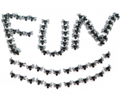 Fake Spiders Toys Funny Prank Halloween Plastic Insect Decorations Party Favour Small Bug Gag and Practical Joke Toys Black 100PCS
