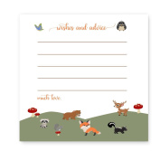 Woodland Animal Baby Shower Advice Card Game Pack