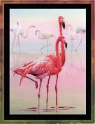 Riolis Cross Stitch Kit 0012 Pt Flamingo Stickpackung Interior Nature Birds