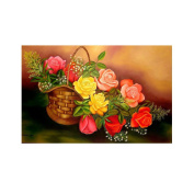 DEESEE(TM) 5D Flower Diamond Rhinestone Pasted Embroidery Painting Cross Stitch Home Decor (A