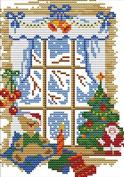 "Lemon Tree Professional Cross Stitch Kits Large Big Cross-Stitching Accurate Pre-printed Pattern -Merry Christmas 11CT 19""X20"", Frameless"