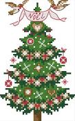 "Lemon Tree Start Cross Stitch Kits Beginners Cross-Stitching Accurate Pre-printed Pattern -Merry Christmas 11CT 7""X9"", Frameless"