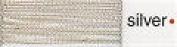 Madeira No 40 Metallic Machine Embroidery Thread 200m Silver - per spool
