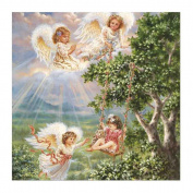 Fineser(TM) DIY Diamond painting Cross Stitch 5D Embroidery Paintings Rhinestone Pasted Four Angel B